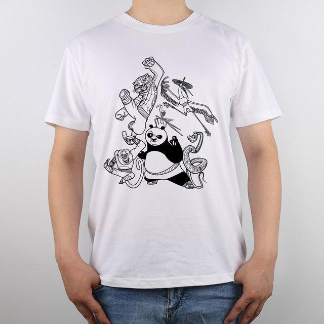 Kung Fu Panda página para colorear camiseta Top Algodón puro hombres ...