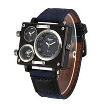Gran estilo y tendencia Peculiar Personalidad Dail Reloj! 3 Colores Cuarzo y Banda de Cuero Hombre Moda casual Hombres Relojes de Pulsera 3595