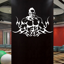Gym Sticker Fitness Decal Body-building Posters Vinyl Wall Decals Pegatina Quadro Parede Decor Mural Gym Sticker JSL042