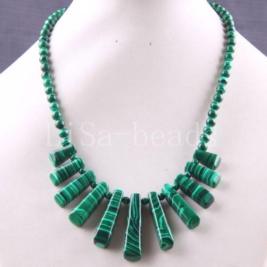 Free Shipping Fashion Jewelry Green Malachite Necklace 18 1Pcs E511
