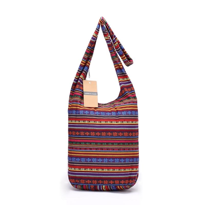 826c5b3e02f1a Annmouler Large Capacity Women Bag Soft Cotton Shoulder Bag Vintage Tribal  Hobo Bag Green Sling Chest Bag for Ladies