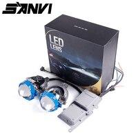 2018 Sanvi 2 шт. 2,5 дюймов 35 Вт 5500 К 4800lm светодиодный фар лампы би светодиодный объектив проектора фар для автомобиля свет фар мотоцикла