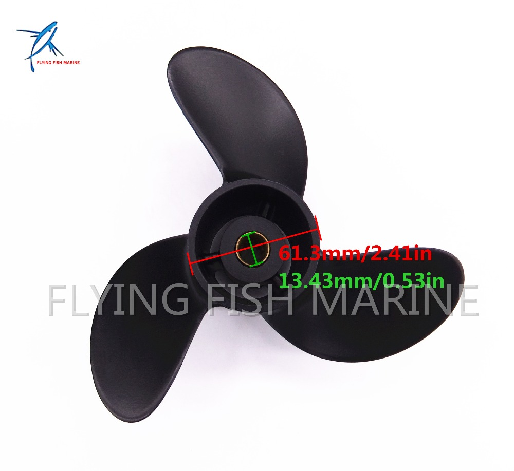 Boat Engine Propeller 7.8x8 for Mercury 2 Stroke 5HP / Tohatsu 4HP 5HP 6HP Outboard Motor 7.8 x 8