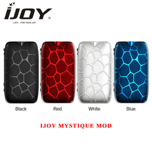 Original IJOY MYSTIQUE 162W TC Box MOD 0.91 Inch Display Output Vape Box Mod Firing Charging fast by dual 18650 E cigarette mod