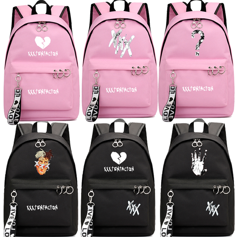 New XXXTentacion Backpack Teens Boys Girls School Bag Bags Fashion Casual Style Laptop Backpack Teens Travel Backpack