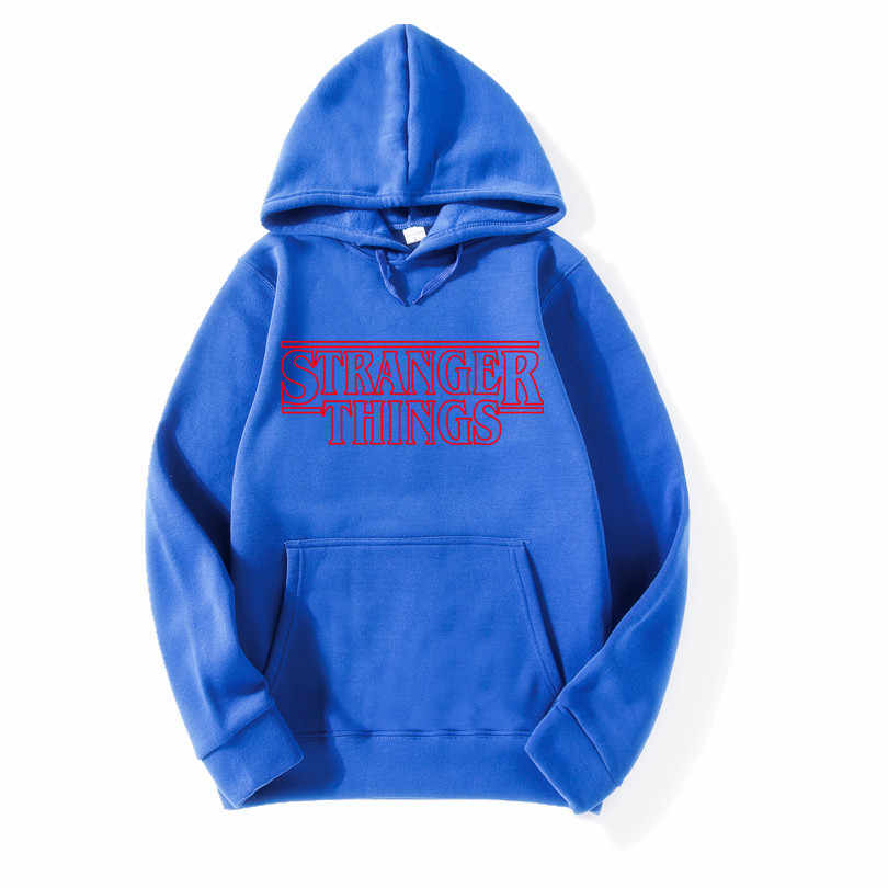 2018 Trendy Faces Stranger Things Hooded Mens Hoodies and Sweatshirts Oversized for Autumn with Hip Hop Winter Hoodies Men Brand