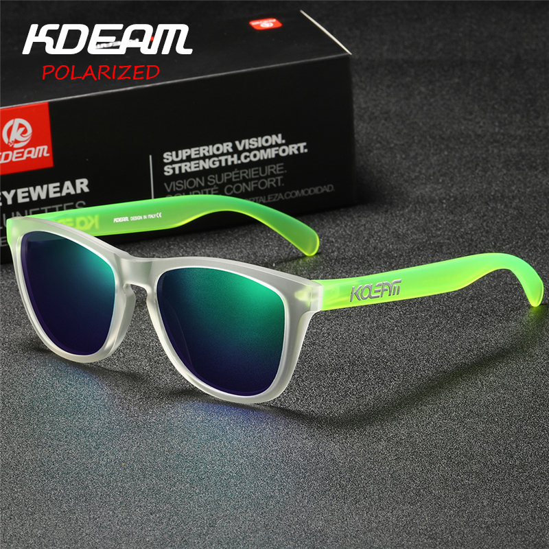 7d4232d3a18 TR90 Frame KDEAM Polarized Sunglasses Men Sport Reflective Coating Lens 6  Colors Women Eyewear zonnebril UV400 With Case KD777-in Sunglasses from  Apparel ...