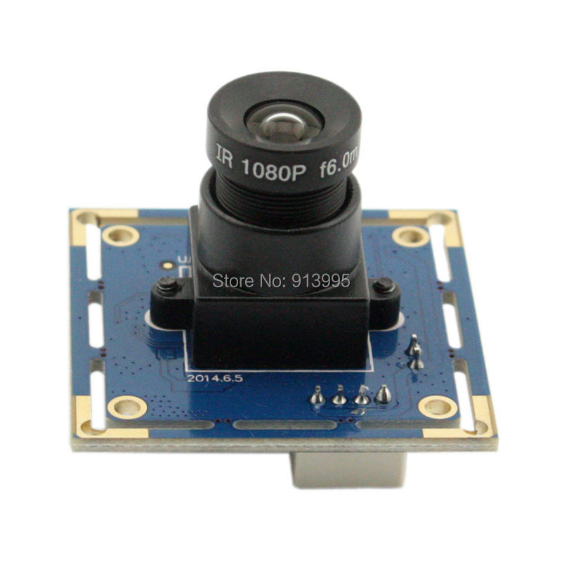ELP cheap Mini 300K pixels CMOS ov7725 image sensor MJPEG 30fps 6mm lens CCTV Board Camera Module with VGA output for Android 2 8 12mm varifocus lens yuy2 and mjpeg 640 x 480 30fps vga cmos ov7725 mini cctv usb camera module for automatic vending machine