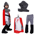 Nova Crusader cavaleiro guerreiro medieval Halloween carnaval festa fantasia Costume for kids, Child' anime Cosplay fantasia fantasia vestido