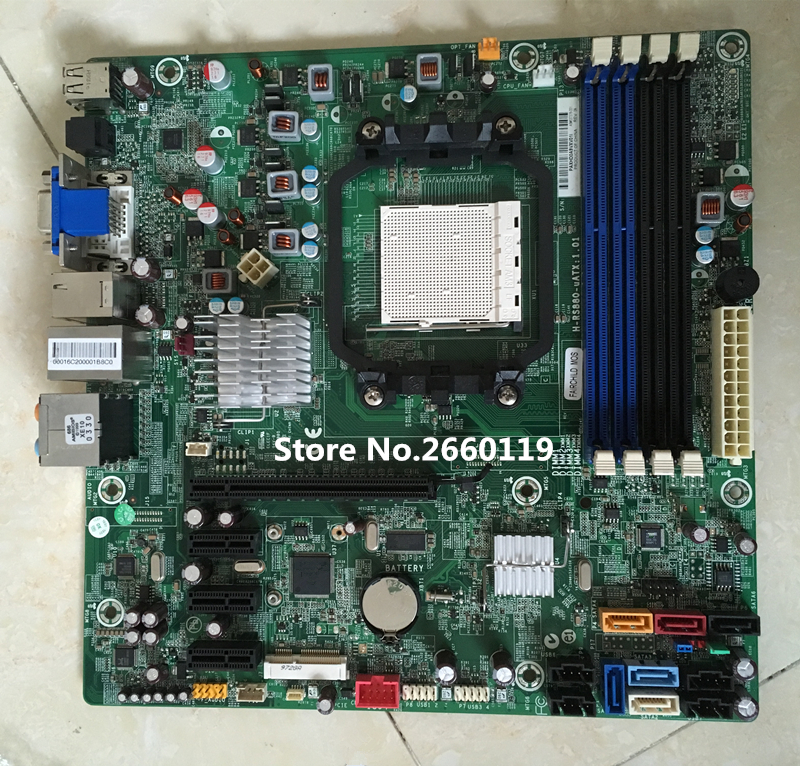 Desktop motherboard for H-RS880-uATX 880G 618937-002 537376-001 Fully tested стоимость