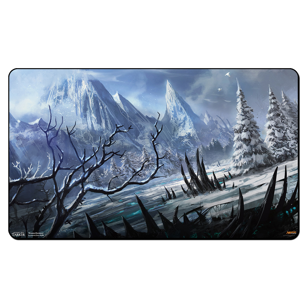(Wooded Foothills) Board Games Playmats, Magical Card The Games Gathering Play Mat, Custom Design Playmat with Free Gift Bag board games