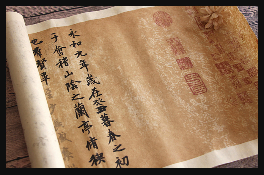 Archaize Chinese Copybook Rice paper Roll of Lan Ting Xu Wang xizhi calligraphy copybook water hick rice paper productivity of rice