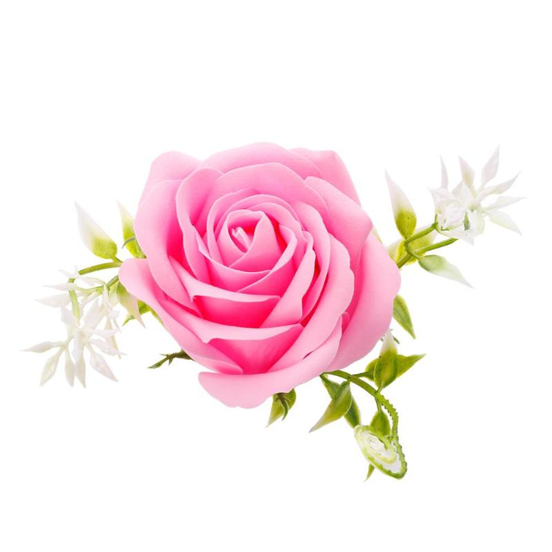 Креативная роза цветок мыло для путешествий мыльные хлопья лепесток тела Парфюмированное Мыло День Святого Валентина украшение для свадьбы подарок Лучшие - Цвет: Light Pink