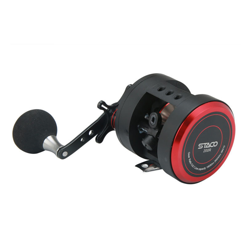 2018 NEW Trolling Fishing Reels 5.6:1 Centrifugal Brake Left-Right Hand Casting Sea Fishing Reel Saltwater Baitcasting Reel Coil metal round jigging reel 6 1 bearing saltwater trolling drum reels right hand fishing sea coil baitcasting reel