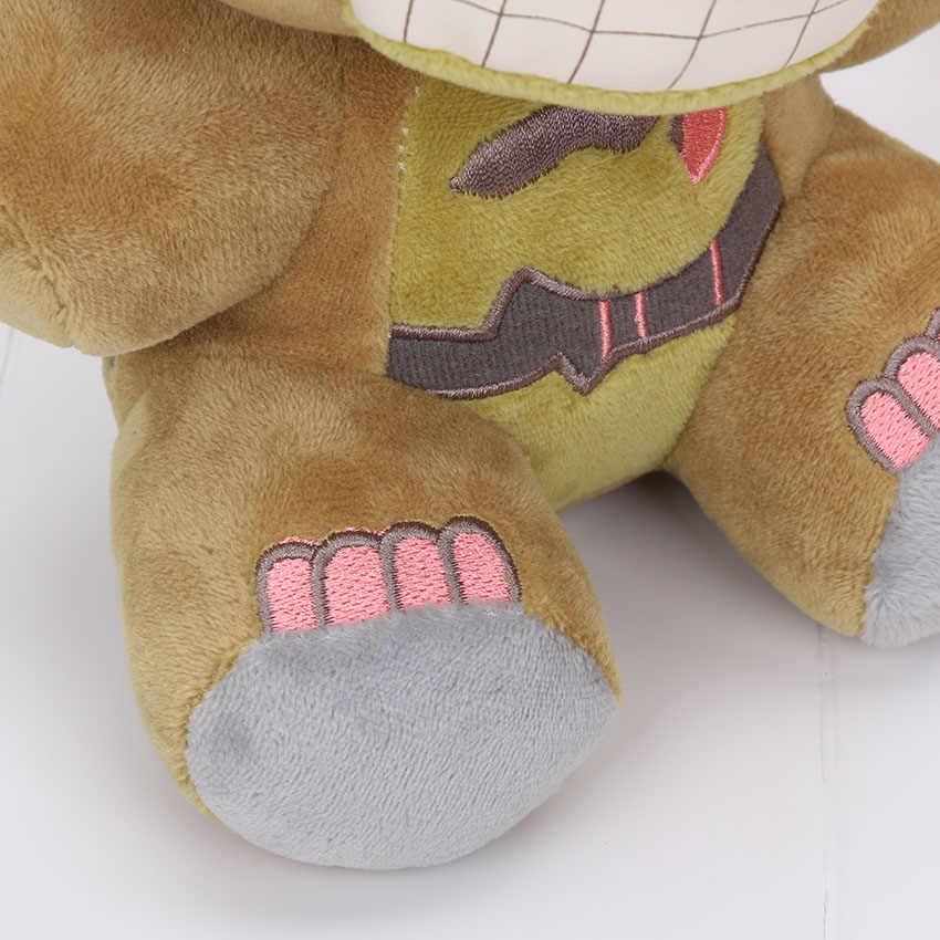 15-25cm fnaf cinco noites no freddy 5 fazbear pesadelo freddy urso verde bonnie springtrap jogos horríveis boneca de pelúcia brinquedos