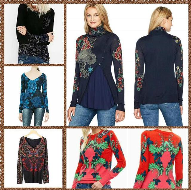 100% cotton Spanish DEG spring and autumn knitted  sweater XS-XXL 1