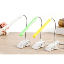 LED Desk Lamp 5V USB Child Read Book Light Flexible With Clip For Children Bedroom Reading Shadeless