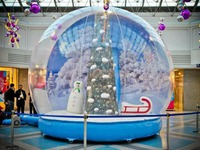 Clear Decorating Inflatable Snow Globe Christmas Plastic Balls For Sale Advertising Giant Inflatable Snow Globe Ball
