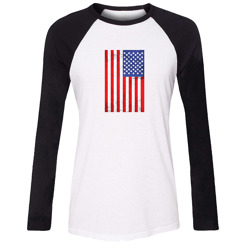 Funny gentleman <font><b>Dresses</b></font> Galaxy Diamond American Flag Womens Ladies Long Sleeve Printing T shirt <font><b>Graphic</b></font> Tee Shirt Cotton <font><b>Tshirts</b></font> image