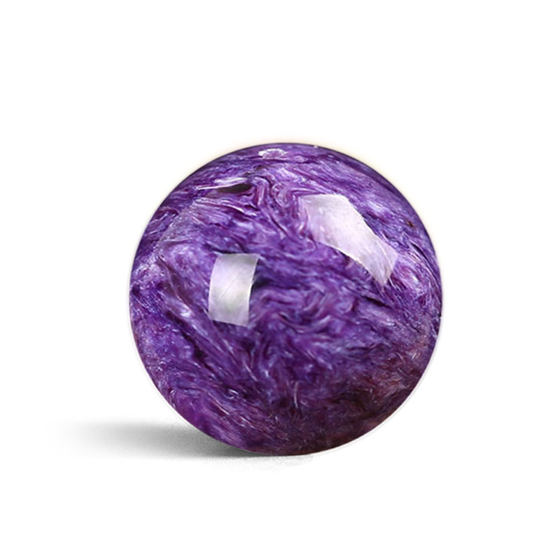 One PIECE Loose Beads CHAROITE Round 8-20MM  For DIY Jewelry Making FPPJ Wholesale Beads Nature