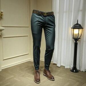 Мужские брюки для официального костюма, брюки для свадьбы темно-зеленого цвета, брюки для жениха, 29-36 365kz04, лето 2019