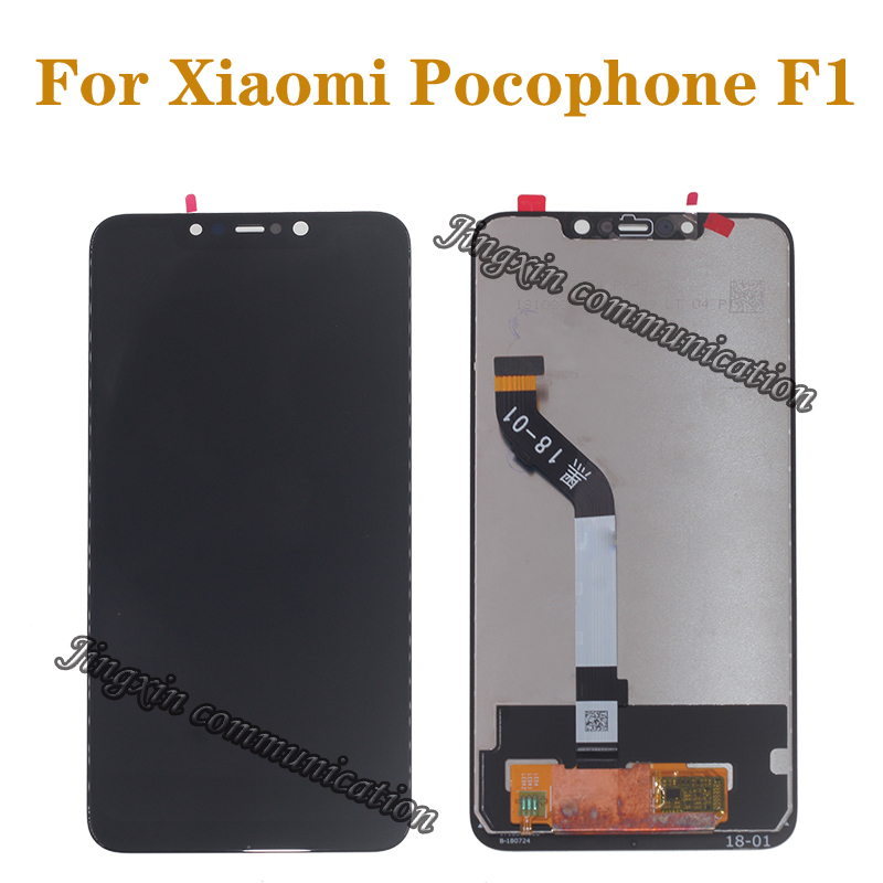 "6.18"" 100% original display For Xiaomi Pocophone F1 LCD+ touch screen digitizer component for Xiaomi poco F1 LCD repair parts-in Mobile Phone LCD Screens from Cellphones & Telecommunications"