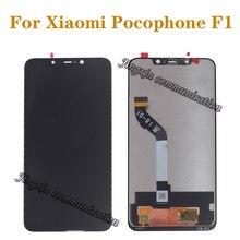 """6.18 """"neue display Für Xiaomi Pocophone F1 LCD + touchscreen digitizer komponente für Xiaomi poco F1 LCD reparatur teile"""