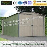주문을 받아서 만들어진 차원을 가진 carport 또는 거주에 사용된 조립식 금속 차고