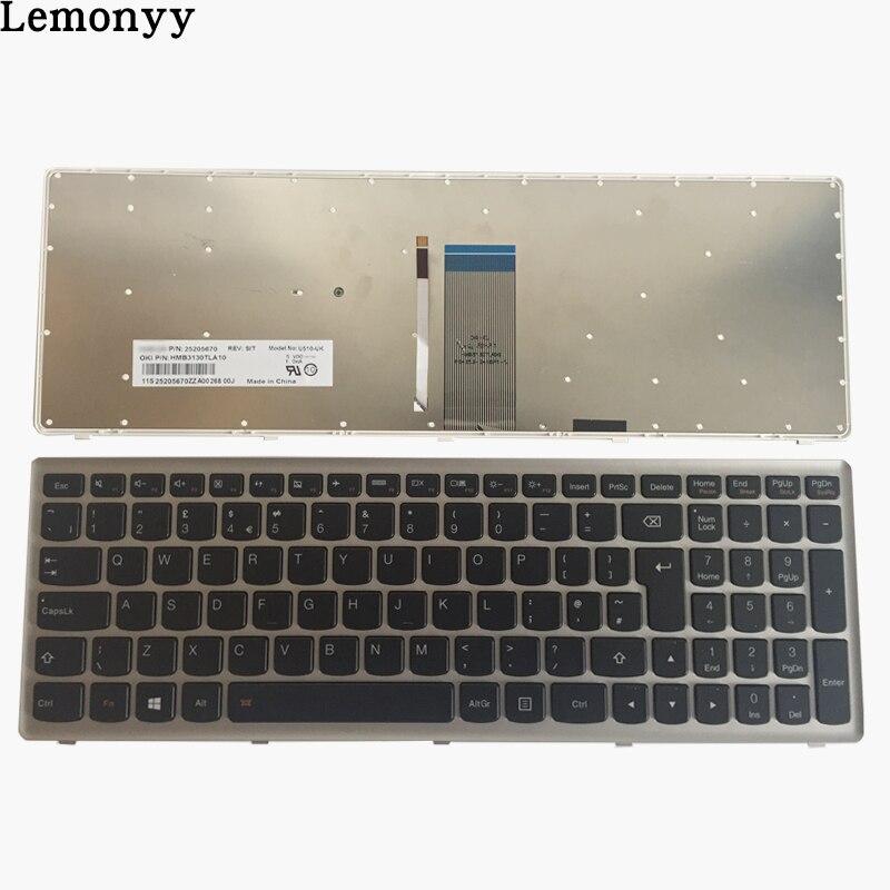 все цены на NEW UK laptop keyboard for Lenovo Ideapad Z710 U510 UK keyboard with Backlight онлайн