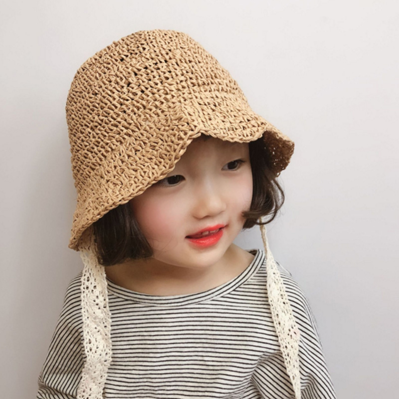 2019 Neue Baby Sonnenhut Hohe Qualität Hand-woven Kinder Der Spitze Stroh Hut Frühling Und Sommer Mädchen Komfortable Sonnencreme Sonne Hut Preisnachlass