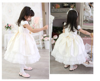 Free Shipping 2 12 Years Old Pink White 2015 Party Tutu Prom Vestidos Wedding Dress Fancy