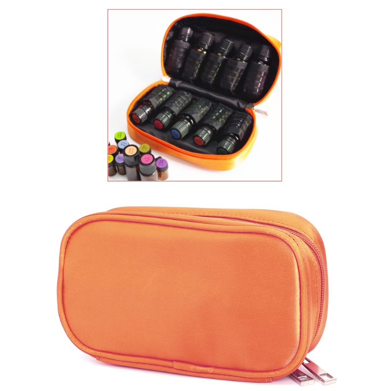 Travel 15ml 10 Bottles Essential Oil Carrying Case Bag Storage Box Double Zip New Polyester Fashion Handbags brand new storage portable travel soft carrying case bag for jbl xtreme wireless bluetooth speaker