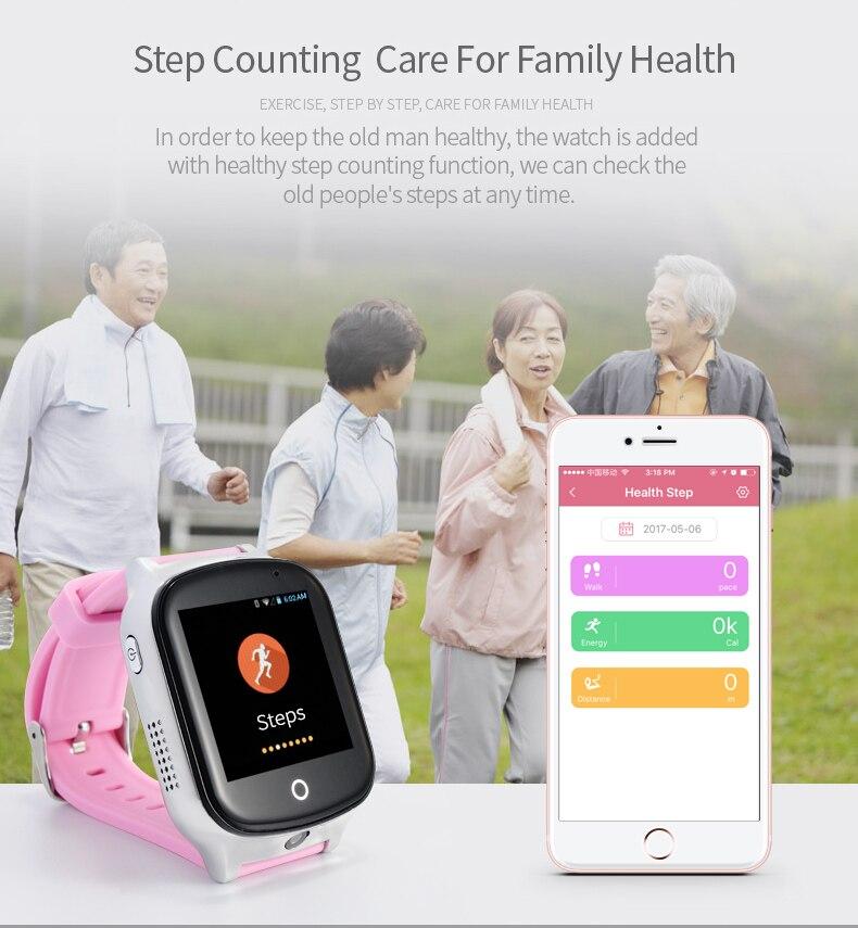 Reloj inteligente para niños Elder A19, reloj GPS con Android, dispositivo localizador antipérdida, Monitor de voz con cámara, reloj inteligente para bebés - 5