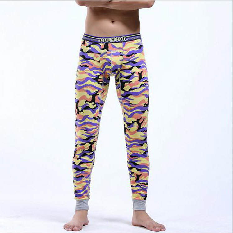 eac0a3853b15 Winter warm Thermal Underwear For Men Camouflage Cotton Long Johns ...