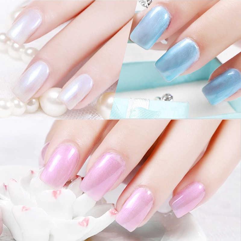 ROSALIND 10 ml Nagellak Parel Serie UV LED Nail Gel Polish Pure Kleur Losweken Top Wit Semi Permanente nail Art gel lak