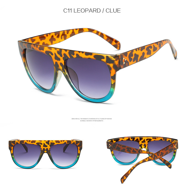 Oversize Retro Flat Top Cat Eye Glasses 11
