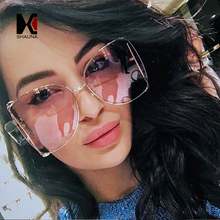 SHAUNA Oversize Half Frame Women Butterfly Sunglasses Venetian Pearl Decoration Legs Fashion Ladies Gradient Lens Shades UV400