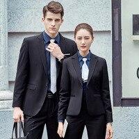 Лето 2017 г. Блейзер комплект Для мужчин костюмы Комбинезоны Повседневное корейский Для Мужчин's Для женщин Карьера Бизнес костюмы Для мужчин