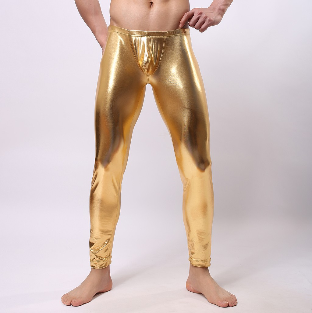 2019 Slim Streetwear Joggers Leggings Men's New Fashion Color Leather Trousers Sexy Trousers Pantalon Homme джоггеры штаны