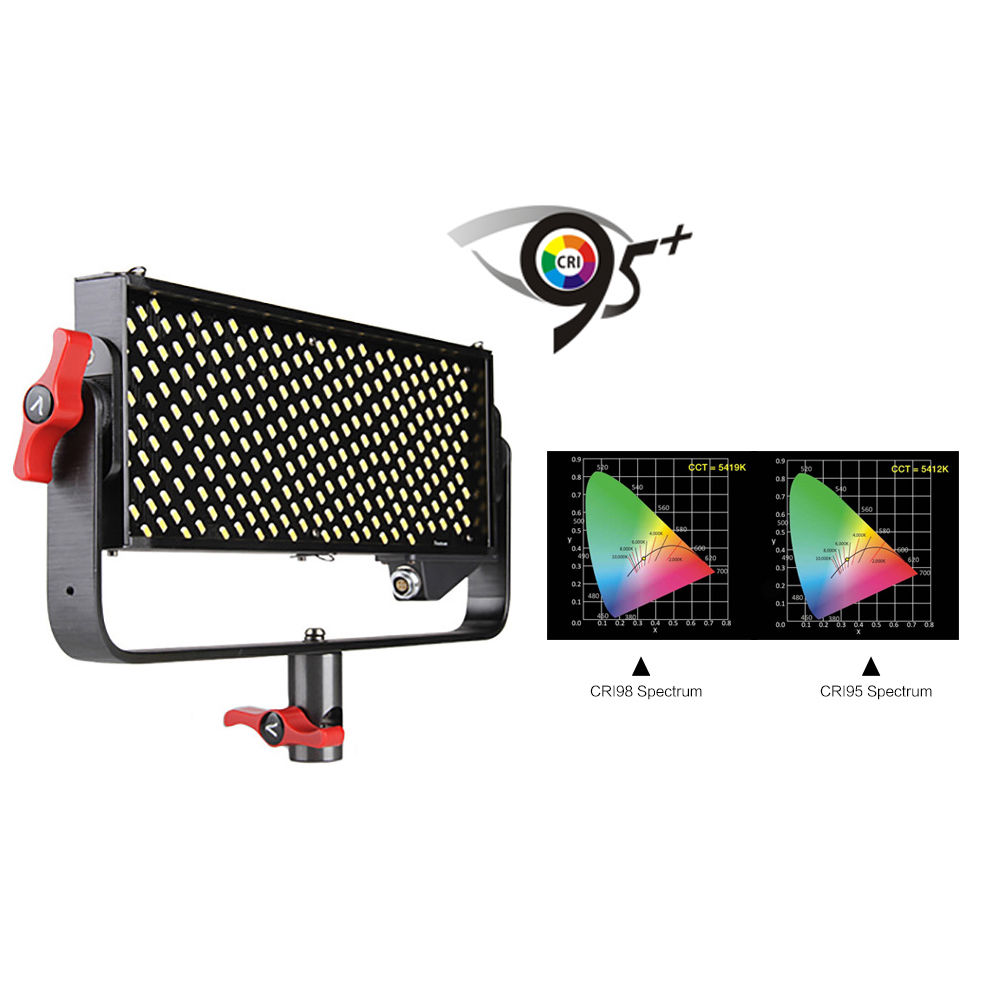 Aputure LED Video Light Storm LS 1/2w CRI95+ 264 SMD Lamp Beads Video Studio Photo Light Panel with V-mount Plate Controller Box aputure ls c120t tlci cri 97 light dome kit led video studio camera light panel light storm with wireless remote v mount plate