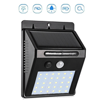 30 LEDs Solar Powered Light Bulb PIR Motion Sensor 3 Modes Waterproof Garden Street Wall security lamp for outdoors yard pathway claite 28 leds solar motion sensor light outdoor activated separable 3 modes wall lamp waterproof garden security street light