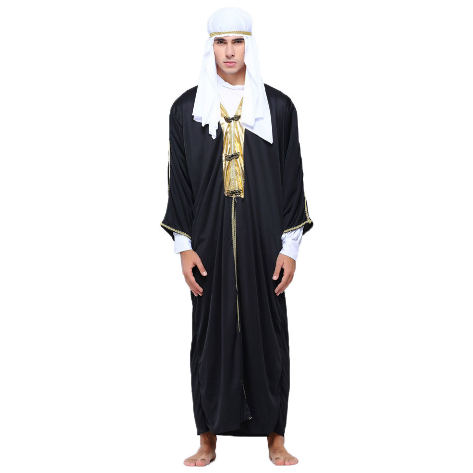 Umorden Arab Arabian Sheik Costume Robe Novelty Sultan Costumes For Men Fancy Carnival Halloween Party Cosplay