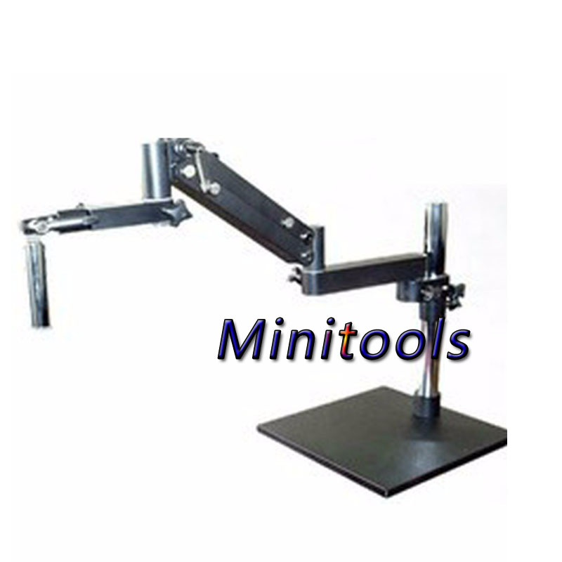 Fold the gimbal swing arm microscope flex arm big table bracket stand for industry Stereo Trinocular eyepieces microscope цена