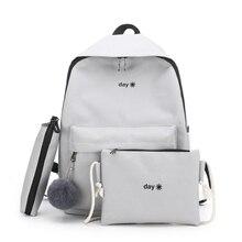 Трендовый женский рюкзак, школьный ранец в Корейском стиле для студенток колледжа для девочек подростков с надписью