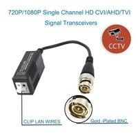 HD CCTV Via Twisted Pairs Adapter HD CVI/TVI/AHD Passive Video Balun Male BNC to UTP Cat5/5e/6 Network Camera 20PCS(10 pairs)