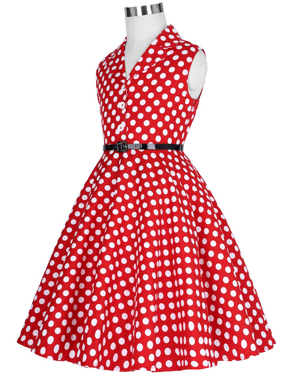 Grace Karin Flower Girl Dresses for Weddings 2017 Sleeveless Polka Dots Printed Vintage Pin Up Style Children's Clothing 17