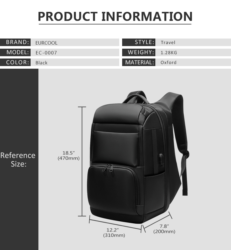 HTB1JhKCbcfrK1RkSmLyq6xGApXaT - Mark Ryden 2019 New Anti-thief Fashion Men Backpack Multifunctional Waterproof 15.6 inch Laptop Bag Man USB Charging Travel Bag