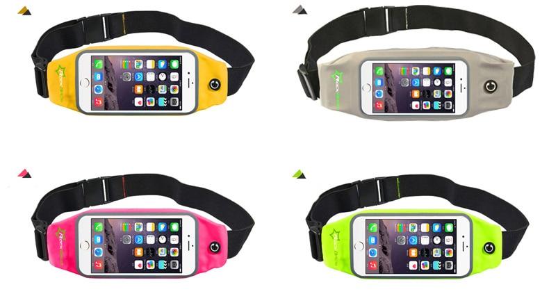 ROCKBROS Waterproof Running Bag Waist Bag Sport Belt Bags 5.8-6 Inch Phone Pouch Case Bags For IPhone 6 7 Plus Sport Accessories 18