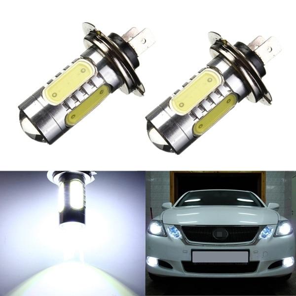 GZ ALL LIGHTING ELECTRONIC CO.,LTD Store 20Pcs High Power H7 7.5W led Car Light 5cob White Fog Driving lamp Car Light front Bulb Lamp 12V Daytime running light