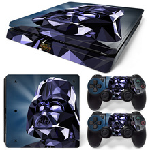 Star Wars PS4 Slim Skin Sticker Console & 2 Controller Protective Cover Decal Stickers For Sony Playstation 4 Slim